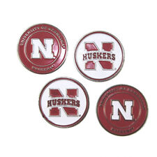 "Nebraska Huskers Golf Ball Markers ""New"" 4 Pack Special ""Go Huskers"""