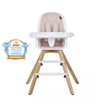 Evolur Zoodle 3-in-1 High Chair Booster Feeding Chair with Modern Design
