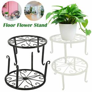 Flower Plant Pot Stand Iron Rack Holder Display Shelf Indoor Outdoor Home Garden