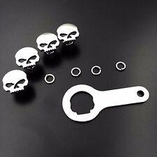 "Skull Zombie License Plate Mounting bolts (1/4-20"" Screw)For Honda Ducati Suzuki"