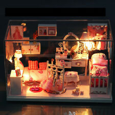 Mini Wooden Manual Dollhouse Kit With LED Lights DIY Craft Assembled Model Toys
