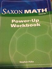 SAXON MATH COURSE 1 Power Up WORKBOOK HARCOURT ACHIEVE 9781591418238