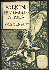 Fiction: JORKENS REMEMBERS AFRICA by Lord Dunsany. 1934. 1st edition.