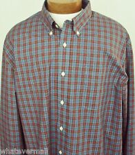 NWT Big and Tall Sport Shirt LS Saddlebred Button Blue Mens Wrinkle Free New XLT