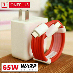 US For OnePlus 9Pro Nord 7T 8TPro Original OnePlus 65W Warp Charger+Type-C Cable