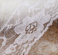 1m Baumwolle Spitze Spitzenborte Spitzenband weiß Dekoband DIY Nähen 15mm