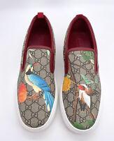Gucci Authentic GG Supreme Tian Bird Slip On Sneakers 12 US 12.5/13 w/ Box $790