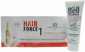 HairBell Shampoo flowers'n'fruits + Hair Force One - Serum Ampullen Haarwachstum