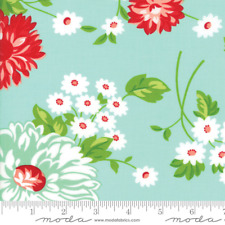 MODA THE GOOD LIFE by Bonnie & Camille Aqua Quilt Fabric by 1/2 yard 55150 12