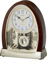 Rhythm Clocks Joyful Crystal Bells Musical Mantel Clock (4RJ636WD23)