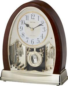 Rhythm Clocks Joyful Crystal Bells Musical Mantel Clock (4RJ636WD23)