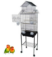 "Large 68"" Pagoda House lovebird parakeet cockatiel canary bird cage Roll Stand"