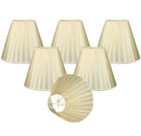 """Organza Empire Chandelier Lamp Shade- 6 pack, 3"""" x 6"""" x 4.5"""", Clip On"""