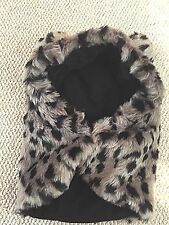 Claire's Critter Hood snow leopard animal snood- furry and warm BNWT - so cute