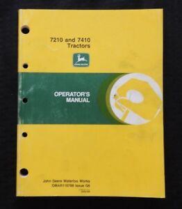 GENUINE 1996 JOHN DEERE 7210 7410 TRACTOR OPERATORS MANUAL VERY NICE SHAPE