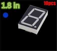10Pcs 1.8 Inch 1 Digit Blue Led Display 7 Segment Common Cathode re