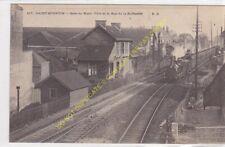 CPA 02100 SAINT QUENTIN Gare du Nord coté rue Raffinerie rails train Edit P.D.