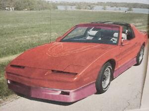 82-92 Pontiac Firebird SHOWCARS Fiberglass 8 Piece Vision Body Kit