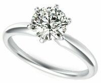 .50 ct. Genuine Round Diamond Solitaire Ring 14K White, Rose or Yellow Gold