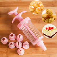 8Pcs Replaceable Nozzles DIY Cake Piping Syringe Modelling Decorating Tools