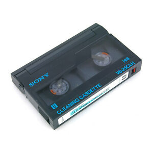 SONY V8-25CLH 8mm Hi8 Cleaning Cassette Video Head Cleaner for Camcorder