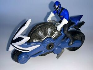 Power Rangers Samurai Disc Cycle & Figure Blue (2011)