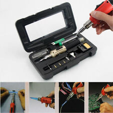 Gold Professional Butane Gas Soldering Iron Set 26ml Welding Kit Torch Style UK