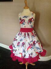 Girls Custom made Trolls The Movie Princess Birthday Spring Summer Dress sz 6