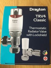 Drayton TRV4 Classic Thermostatic Radiator Valve with Lockshield 0705180