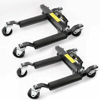 "1500lbs 12"" Vehicle Positioning Jacks Hydraulic Car Wheel Dollies Go Jack Set"