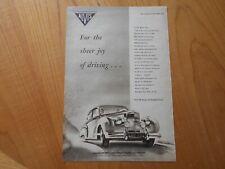Vintage Alvis Advert -- Original -- from 1954