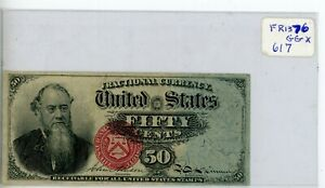 FR1376 4TH ISSUE FRACTIONAL CURRENCY 50 CENTS# 617