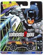 1980 DODGE MACHO POWER WAGON Batman - Hot Wheels Pop Culture DC COMICS