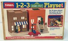 Vintage 1986 Playskool ~ Sesame Street 1-2-3 Playset ~ BOX ONLY ~ Real Nice
