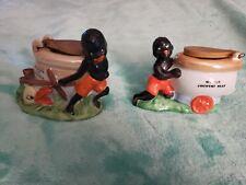 A Pair of Ceramic Black Americana Figurines Tooth Pick Holders