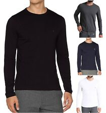 French Connection Mens Long Sleeve Crew Neck Tee Basic Plain Logo T-Shirt Top