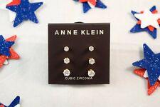 Womens Anne Klein Gold-Tone Trio Stud Earrings