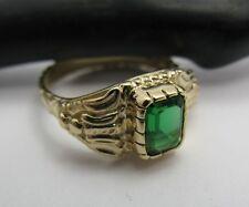 Atocha Shipwreck Artifact 14k Gold Pirate Emerald Stunning Royalty Ring Replica