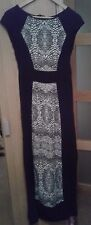 DOROTHY PERKINS BLACK WHITE SUMMER MAXI DRESS UK 8 AZTEC TRIBAL PRINT NEW