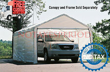 NO TAX! Outdoor Canopy Enclosure Kit 12x20 (ONLY) Car Shelter Cover Tent Garage
