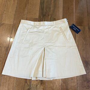 NWT Ralph Lauren Golf Skort Shorts Tan Cotton sz 8 $97