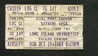 1987 Suzanne Vega Concert Ticket Stub Long Island Solitude Standing Luka