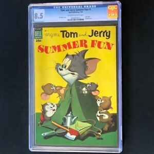 Tom and Jerry Summer Fun #1 (1954) 💥 CGC 8.5 💥 Carl Barks Dell Giant Comic