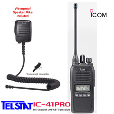 ICOM IC-41Pro 5W Handheld UHF CB Two way radio IC 41 PRO Waterproof Speaker Mike