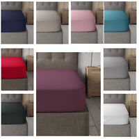 100% Poly Cotton Full Fitted Sheet Bed Sheets Size single Double King Super King