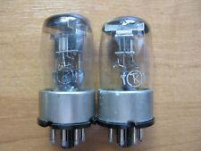 2x 6X6C / 6H6S / 6H6GT / D63 Metal base Same Date 1957's tubes NEW NOS