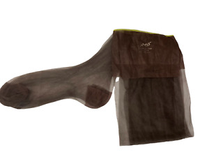 Hanes Seamless Flat Knit Stockings Brown Size 10 Long 32 Inches