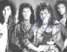 SINGER KIP WINGER HAND SIGNED AUTHENTIC 8X10 PHOTO w/COA GLAM HAIR ROCKER