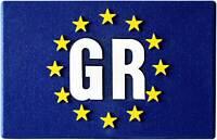 GR Euro Griechenland Europa Emblem Greece Relief Flagge HR 19166 selbstklebend