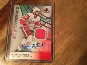 2019/20 UD SP GAME USED *RED*  AUTHENTIC ROOKIES RYAN KUFFNER AUTO/ JERSEY #140